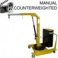 manual counterweighted crane